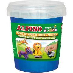 Plastilina magica, 160 grame/cutie, ALPINO - albastra