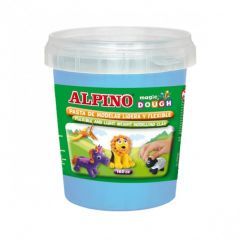 Plastilina magica, 160 grame/cutie, ALPINO - bleu