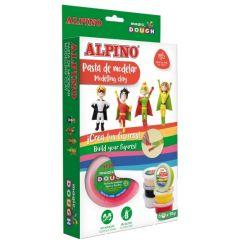 Kit 6 culori x 40gr plastilina magica, ALPINO Super Heroes