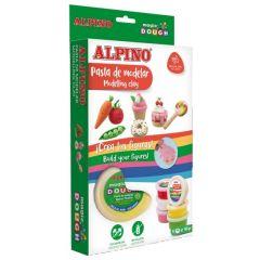 Kit 6 culori x 40gr plastilina magica, ALPINO Foody