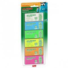 Plastilina neon, 6 culori x 30 grame/blister, ALPINO