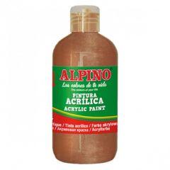 Vopsea acrilica, rezistenta la apa, 250ml, ALPINO - bronz metalizat