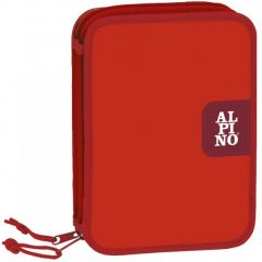 Penar dublu, cu 2 fermoare, echipat, ALPINO Red