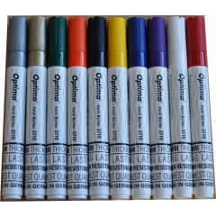 Marker cu vopsea Optima Paint 3710, varf rotund 4.5mm, grosime scriere 2-3mm - maro