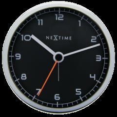 "Ceas desteptator, 9x9x7,5 cm, cifre arabe, metal, NeXtime - ""Company Alarm"", negru"
