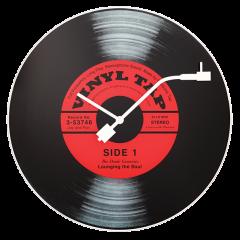 """Ceas de perete, D-43 cm, sticla, NeXtime - """"Vinyl Tap"""""""