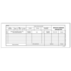 Bon consum autocopiativ, format A5, 50 set/carnet