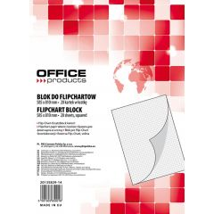 Rezerva hârtie pentru flipchart, 70g/mp, 58.5x81cm, 20coli/top, Office products - caroiata