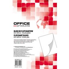Rezerva hârtie pentru flipchart, 70g/mp, 65x100cm, 50coli/top, Office products - velina