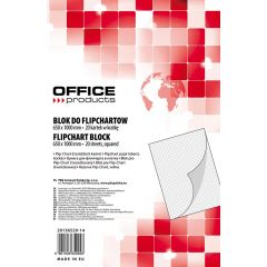 Rezerva hârtie pentru flipchart, 70g/mp, 65x100cm, 20coli/top, Office products - caroiata