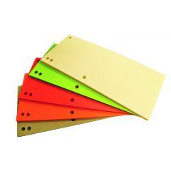 Separatoare carton pentru biblioraft, 180 g/mp, 105 x 235 mm, 100/set, Office Products Duo -asortate