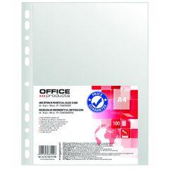 Folie protectie pentru documente A4, 30 microni, 100folii/set, Office Products - cristal
