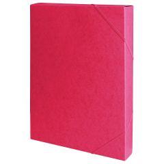 Mapa din carton A4, elastic pe colturi, latime 40mm, 450gr/mp,  Office Products - rosu