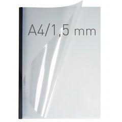 Coperti plastic PVC cu sina metalica  1.5mm, OPUS Easy Open - transparent mat/negru