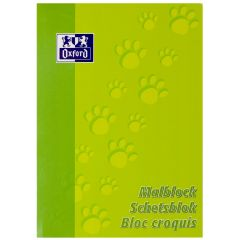 Blocnotes A4, OXFORD, 100 file - 90g/mp, pentru desenat - velin
