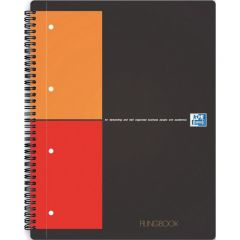 Caiet cu spirala A4+, OXFORD Int. Filingbook, 100 file-80g/mp, Scribzee, coperta carton rigid - dict