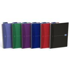 Caiet cu spirala A4, OXFORD Office Essentials, 90 file-90g/mp, Scribzee, 4 perf, coperta carton-dict