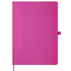 Caiet cu elastic, A5, OXFORD Signature Touch, 80 file - 90g/mp, Scribzee, mate - fucsia