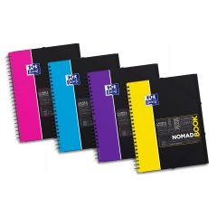 Caiet cu spirala A4+, OXFORD Student Nomadbook, 80 file - 90g/mp, 4 perf., coperta PP - mate