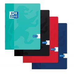Caiet A5, OXFORD School, 60 file - 90g/mp, coperta carton soft, liniat stanga - dictando