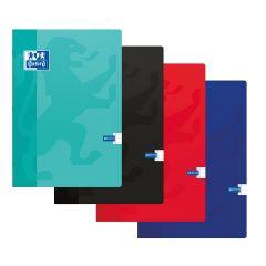 Caiet A4, OXFORD School,  60 file - 90g/mp, coperta carton soft, liniat stanga - dictando