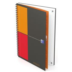 Caiet cu spirala B5, OXFORD Int. Notebook, 80 file-80g/mp, Scribzee, coperta carton rigid - mate