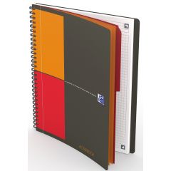 Caiet cu spirala B5, OXFORD Int. Activebook, 80 file - 80g/mp, Scribzee, coperta PP - mate