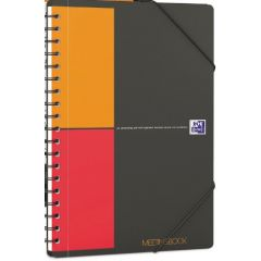 Caiet cu spirala B5, OXFORD Int. Meetingbook, 80 file  -80g/mp, Scribzee, coperta PP - mate