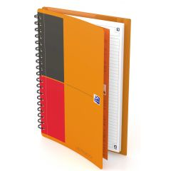 Caiet cu spirala B5, OXFORD Int. Meetingbook, 80 file - 80g/mp, Scribzee, coperta PP - dictando