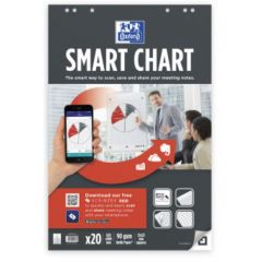 Rezerva hartie flipchart, 65x98mm, OXFORD Smart Chart, 20coli/top, 90g/mp, Scribzee - matematica