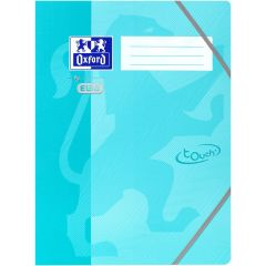 Mapa carton cu elastic pe colturi, OXFORD School Touch - aqua