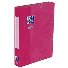 Mapa carton cu elastic, 45mm latime, OXFORD School Touch - roz