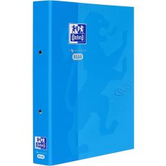 Caiet mecanic cu 2 inele, OXFORD School Touch, A4, carton color soft touch, cotor 45mm - bleu