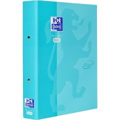 Caiet mecanic cu 2 inele, OXFORD School Touch, A4, carton color soft touch, cotor 45mm - aqua