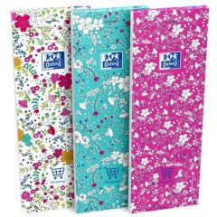 Notes OXFORD Floral Shopping list 7,4 x 21 cm, 160 file, coperti carton - dictando