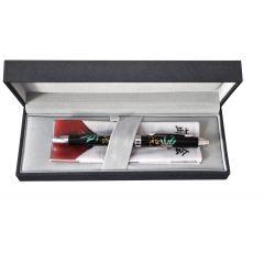 Pix multifunctional de lux PENAC Maki-E - Hoo-oo, in cutie cadou, corp negru