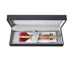 Pix multifunctional de lux PENAC Maki-E - Aki & Haru, in cutie cadou, corp auriu