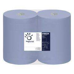 Rola prosop albastra industriala, 3 straturi, 180m, 2 role/set,  Papernet