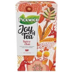 Ceai PICKWICK JOY OF TEA - Spicy Chai - scortisoara, cardamom, anason si piper - 15 x 1,75 gr./pache