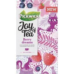 Ceai PICKWICK JOY OF TEA - zmeura, afine, capsuni si petale de trandafir - 15 x 1,75 gr./pachet