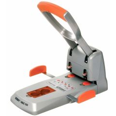 Perforator de mare capacitate metalic, RAPID Supreme HDC 150/2, 150 coli - argintiu/portocaliu
