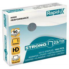 Capse RAPID Strong 23/12, 1000 buc/cutie - pentru 60-90 coli