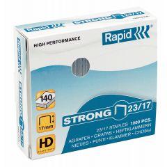 Capse RAPID Strong 23/17, 1000 buc/cutie - pentru 110-140 coli