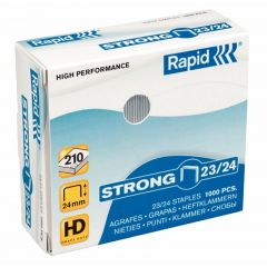 Capse RAPID Strong 23/20, 1000 buc/cutie - pentru 140-170 coli