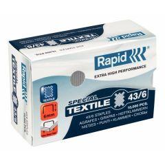 Capse RAPID 43/8G textile, 10.000 buc/cutie - pentru capsator RAPID Classic K1 Textile