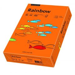 Hartie color,A4,80g/mp 500coli/top , RAINBOW - orange intense