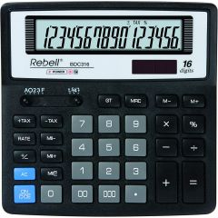 Calculator de birou, 16 digits, 156 x 156 x 30 mm, Rebell BDC 316 BX - negru