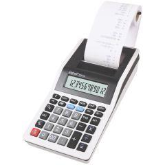 Calculator cu banda, 12 digits, 200 x 102 x 45 mm, Rebell PDC 10 - alb/negru