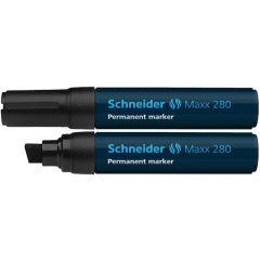 Permanent marker SCHNEIDER Maxx 280, varf tesit 4+12mm - negru