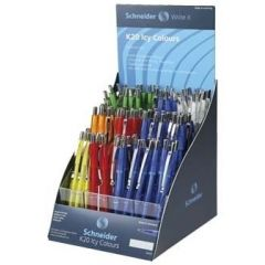 SIS Display SCHNEIDER K20 Icy colours, 100 pixuri culori asortate - scriere albastra